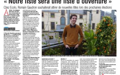 « Notre liste sera une liste d'ouverture » – La Meuse 12/07